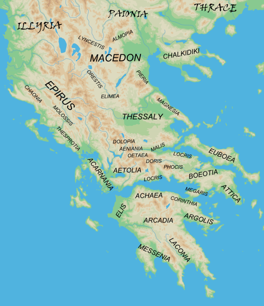 Регионы Древней Греции