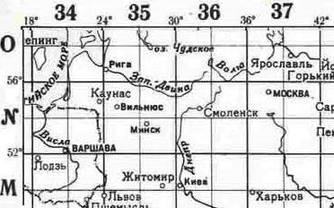 разграфка Беларуси