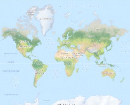 карта мира в OpenStreetMap