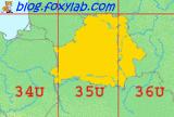 зоны UTM для Беларуси