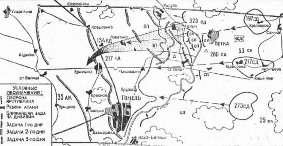 план операции по освобождению Гомеля