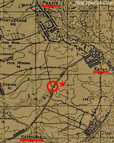 карта боев (Хальч, Старое Село)