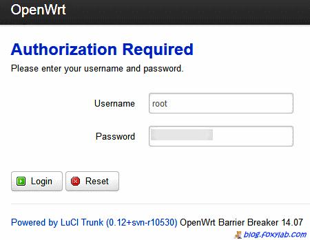 авторизация в OpenWrt