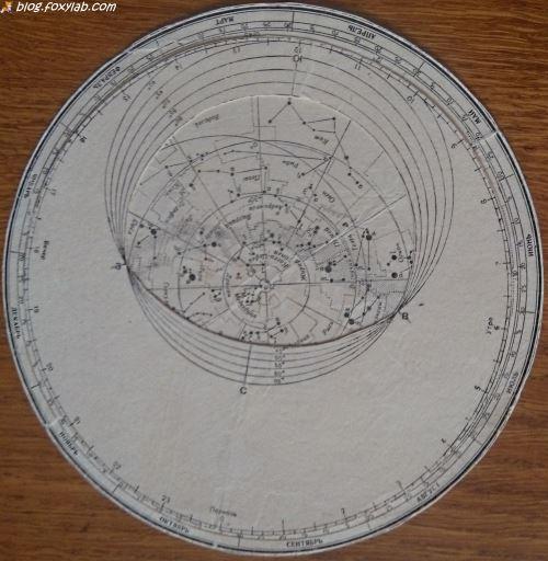 подвижная звездная карта
