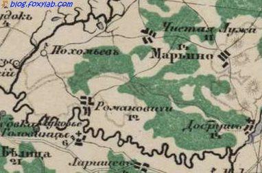 карта Стрельбицкого Гомель Добруш