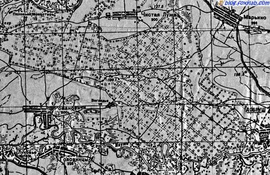 карта Гомель Добруш 1941