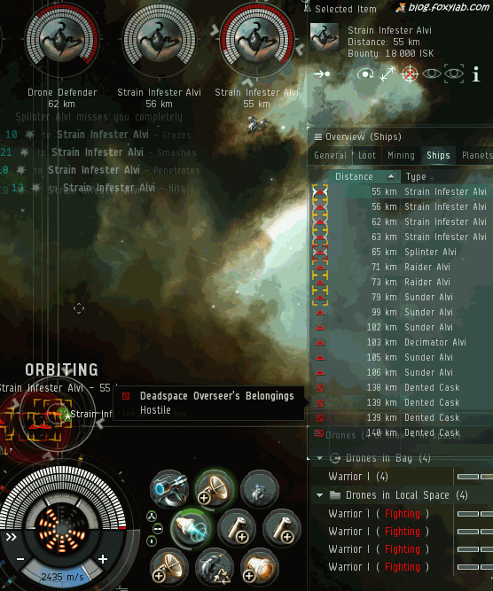 EVE Online Combat site fight