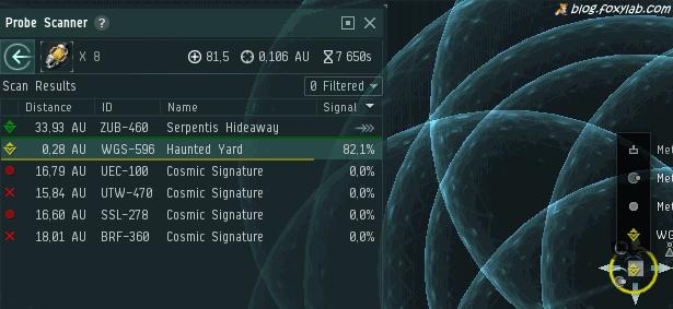 EVE Online Combat site scan