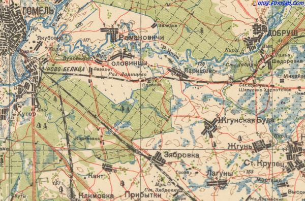 карта Гомеля 1931