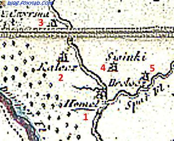 карта Гомеля 1807