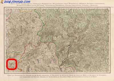 карта Гомеля 18 века