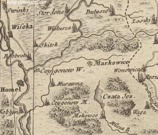 карта Заннони Гомель