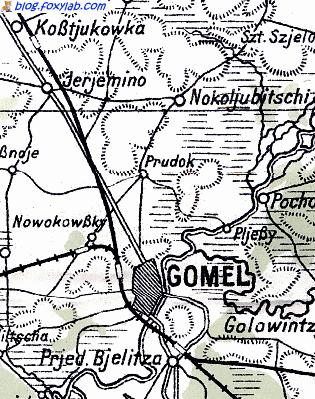 немецкая карта гомель 1941 год