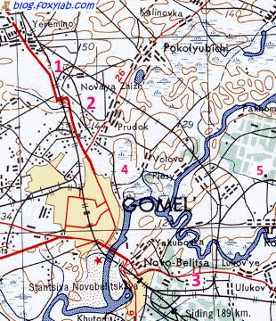 карта Гомель 1950 год