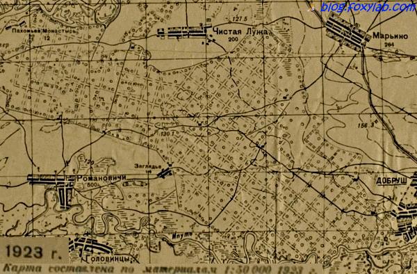 старая карта Гомеля